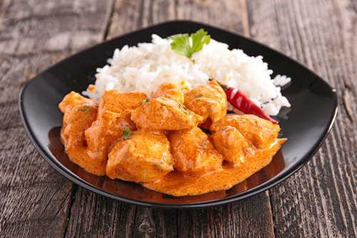 Mischprodukt Curry und Reis zur Analyse