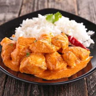 Fertiggericht Reis und Pouletcurry
