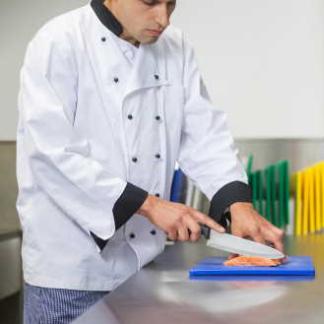 Koch, Schneidebrett, Hygiene in der Küche
